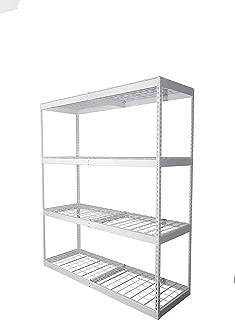 SafeRacks 2x6x7 Garage Shelving - White Bolted Shelving Rack (24