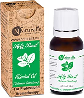 Holy Basil Essential Oil by Naturalis 100% Pure Natural Essential Oil - 15 ml