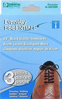 رباط حذاء مرن من Everyday Essentials 24 بوصة أسود - 3 أزواج في كل عبوة