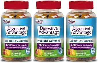 Digestive Advantage Probiotic Gummies, 80 count (Pack of 3)