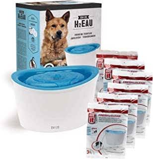 Dogit Design Fresh & Clear Pet Fountain Plus Additional 18ct (6 x 3ct) Media