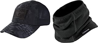 CONDOR Typhon Mesh Tactical Cap Black Thermo Neck Gaiter Bundled by Maven Gifts