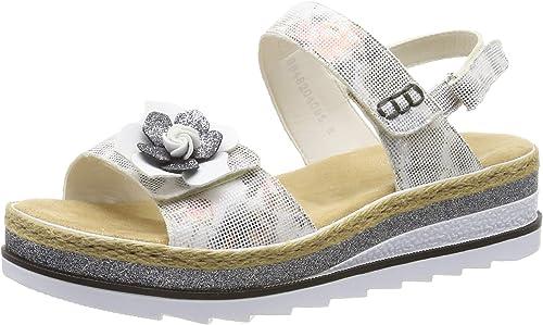 Rieker V7972-90, Sandalias con Silberforma para damen