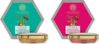 Forest Essentials Luscious Sugared Rose Petal Lip Balm, 4g & Forest essentials Luscious Lip Balm Narangi Glaze 4g