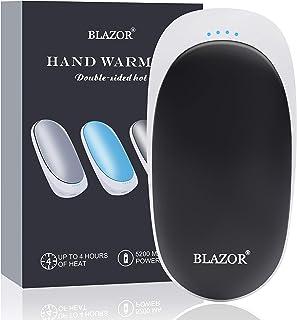 comprar comparacion BLAZOR Calentadores de Manos Recargables, Calentadores de Manos Eléctricos Portátiles USB con Bolsillo, 5200mAh Power Bank...