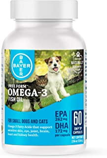 Bayer Free Form Snip Tips Gel Capsules, Omega-3 Fish Oil,...