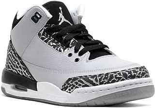 Jordan Air 3 Retro BG Big Kids Shoes Wolf Grey/Metallic Silver-Black-White 398614-004