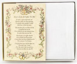 Wedding Handkerchief Poetry Hankie (For Bride's Stepfather) White, Wedding Keepsake, Beautiful Poem | Long-Lasting Memento for the Bride's Stepdad | Includes Gift Storage Box