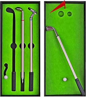 Mini Desk Games - Desktop Golf Pen Toy Set - Funny White Elephant Gag Gifts for Adults Men Dad Husband - Unique Novelty Cu...