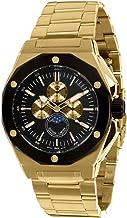 Louis XVI Men's-Watch Le Souverain l'acier l'or Noir Swiss Made Moonphase Analog Quartz Stainless Steel Gold 626