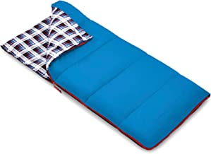 Outbound Kids Sleeping Bag | Compact and Lightweight Sleeping Bags for Girls and Boys | 3 Season, Warm and Cold Weather | Perfect for Youth, Camping and Backpacking | Red & Blue
