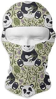 Comfortable Panda Bear with Bamboo Headcover Soft Balaclava Headwear Fit Full Hood Face Mask White