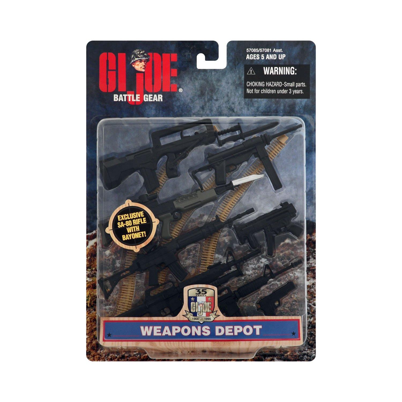 Gi Joe Battle Gear Rock n roll Gun W// Bipod Accesory pack light grey