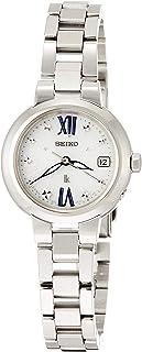 [セイコーウォッチ] 腕時計 ルキア 薄型ソーラー電波 白文字盤 ローマ表記 プラチナダイヤシールド サファイアガラス SSVW135 レディース シルバー