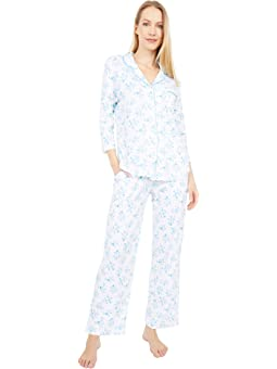 Details about  /Karen Neuburger Women/'s Pajamas 3//4 Sleeve Pullover Henley Pj Set