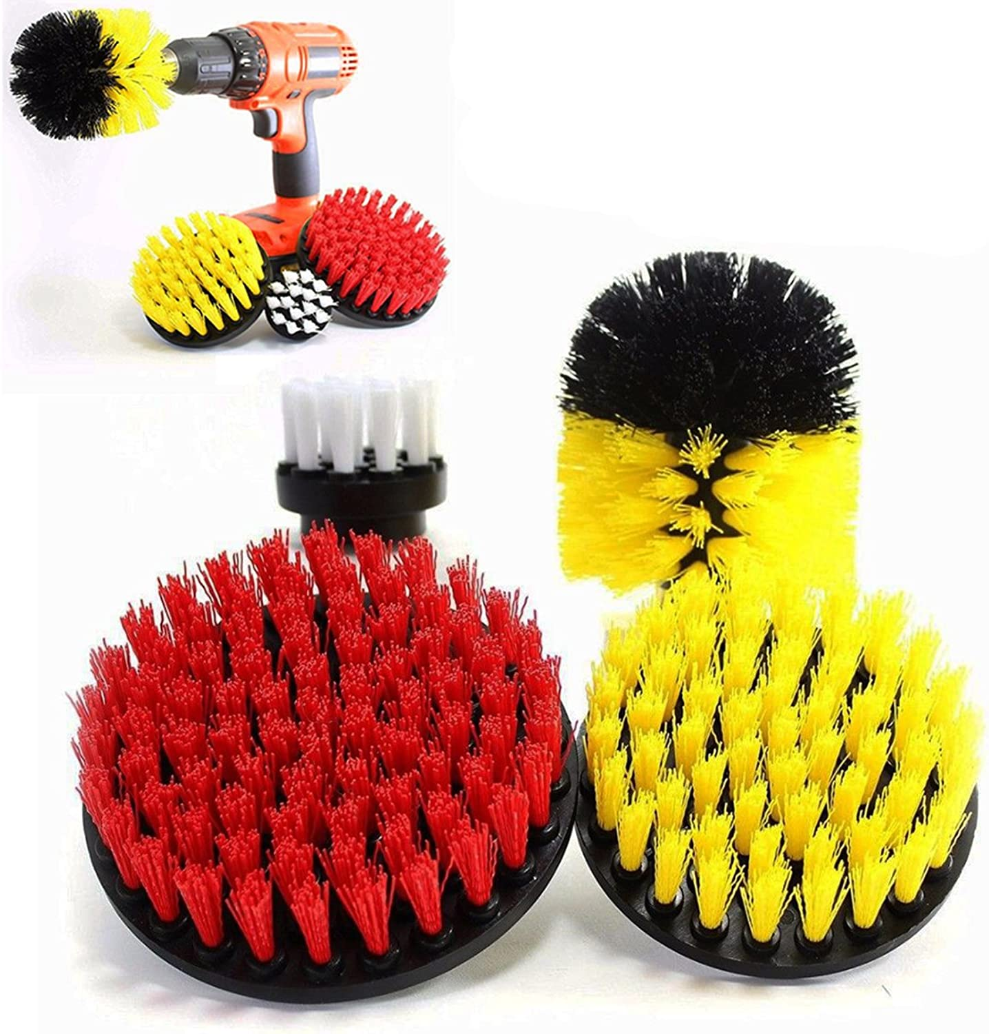 4pcs Power Scrub Drill Cleaning Brush Set 25 Inch Electric Drill Cleaning Brush
