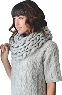 Soft Woven Stylish Cold Weather Warm Chunky Thick Knit Infinity Loop Scarf