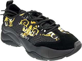 Versace Jeans Couture Men Logo Baroque Sneakers Nero