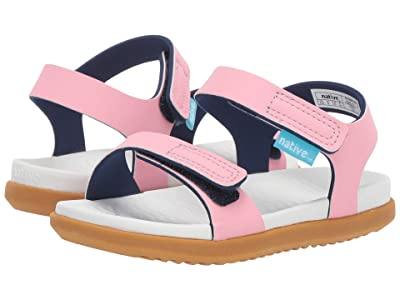 Native Kids Shoes Charley (Toddler/Little Kid) (Princess Pink/Shell White/Toffee Brown) Girls Shoes