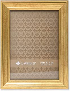 Lawrence Frames Sutter Burnished Picture Frame, 5 by 7-Inch, Gold