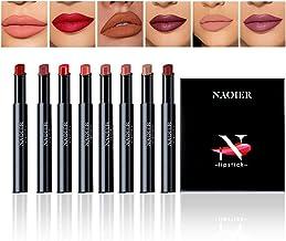 NAQIER Matte Lipstick Set, 8PCS Nude Moisturizer Smooth Lip Stick, Waterproof liquid lipstick mate Make up Velvet lip glos...