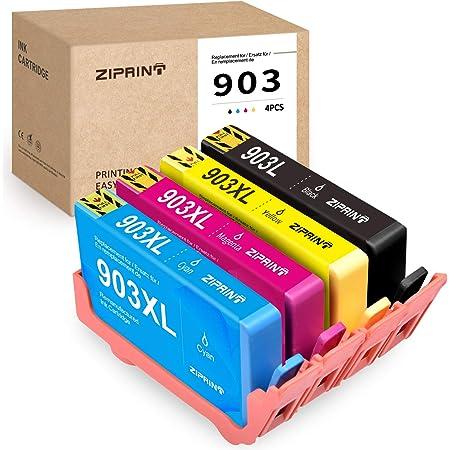 Chip Ziprint Compatible With Hp 903 Hp 903xl Printer Cartridge 4 Multipack For Hp Officejet Pro 6860 6868 6960 6970 6975 6978 6950 All In One Printer Black Cyan Magenta Yellow Bürobedarf Schreibwaren