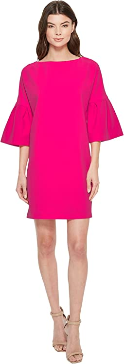 Badgley Mischka - Pebble Crepe Bell Sleeve Day to Evening Dress