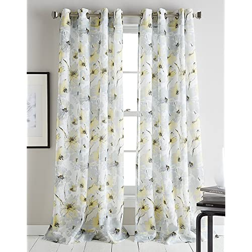 Modern Blue And Yellow Curtains For Bedroom Amazoncom