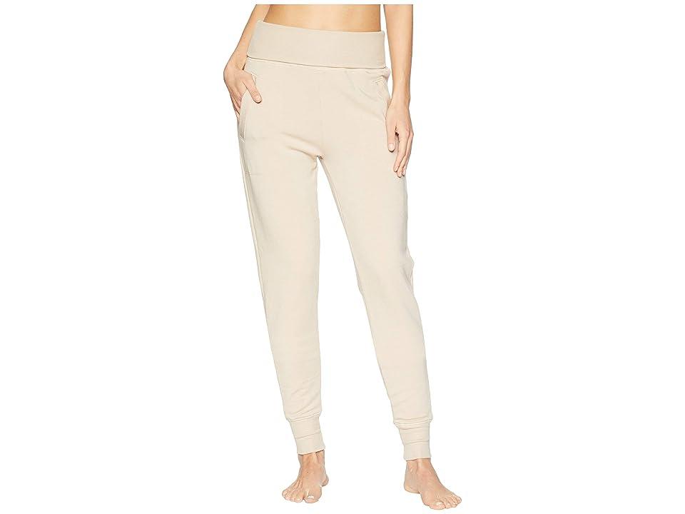 Beyond Yoga Fleece Fold-Over Sweatpants (Texas Taupe) Women