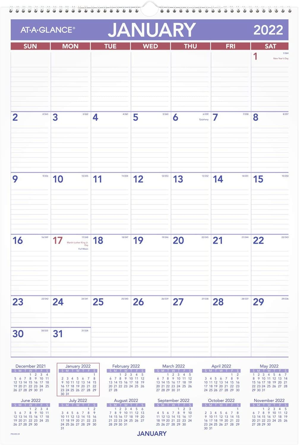 Safety and trust 2022 Louisville-Jefferson County Mall Erasable Calendar Dry Erase Planner by Wall AT-A-GLANCE 1