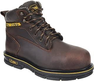 "CEBU Men's BMX 6"" Steel-Toe Work Boot"