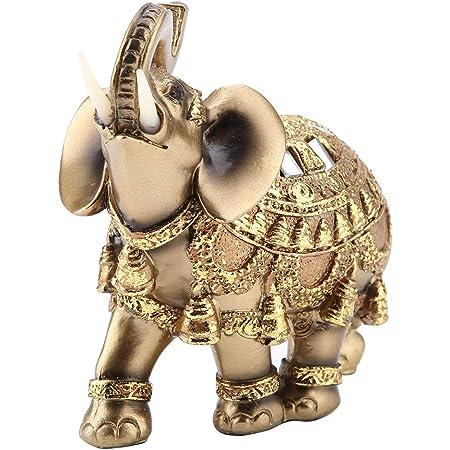 3er Elefanten Wiese Stein Deko Glücksbringer Feng Shui Statue