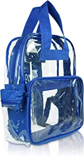 DALIX Small Clear Backpack Bag in Royal Blue