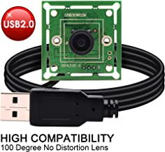 """0.3MP High fps USB Camera Module 1/4"""" CMOS OV7725 Sensor with 100 Degree M7 Lens,Support 640X480@60fps,UVC Compliant,Support Most OS,Super Mini 32X32/26X26mm USB with Camera,High Speed USB2.0 Webcam"""