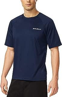 Men's Short Sleeve Solid Sun Protection Quick-Dry Rashguard Swim Shirt UPF 50+