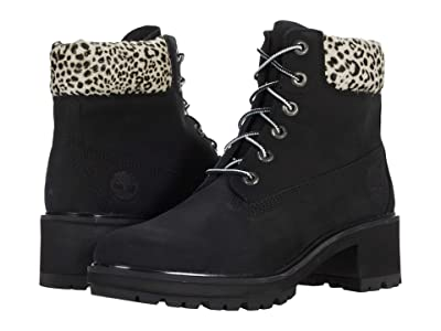 Timberland Kinsley 6 Waterproof Boot (Black Nubuck/Leopard) Women