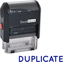 Duplicate Self Inking Rubber Stamp - Blue Ink (ExcelMark A1539)