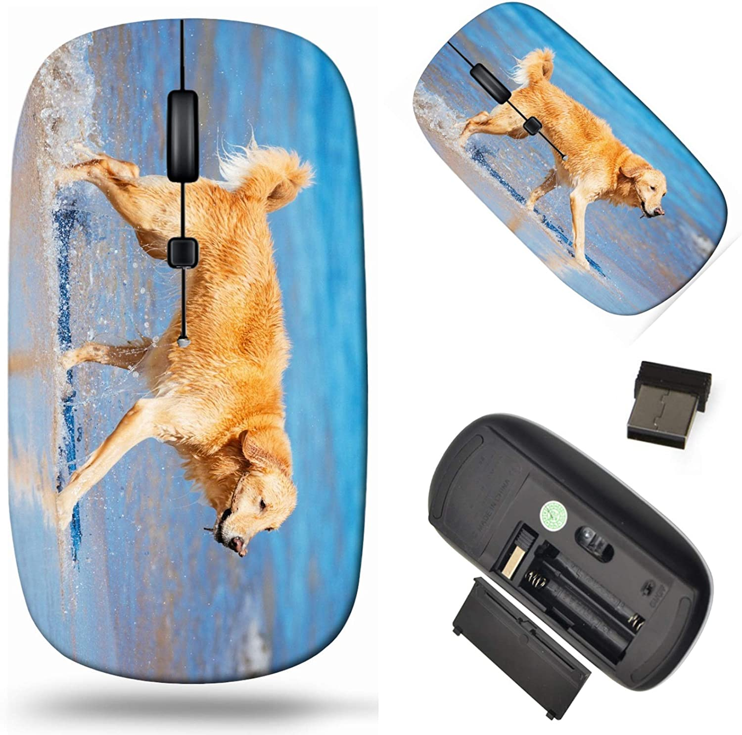 Wireless Computer Mouse 2.4G unisex with Laptop USB Cor Dedication Receiver