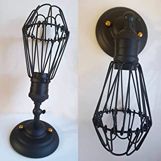 CMYK Wall Light Cage Shap Vintage Style with 180 Degrees Adjustable Head 1 Pack