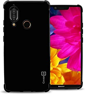 Sharp Aquos S3 Case, CoverON FlexGuard Premium Slim TPU Phone Cover with Anti-Slip Grips and Corner Impact Padding for Sharp Aquos S3 - Gloss Black