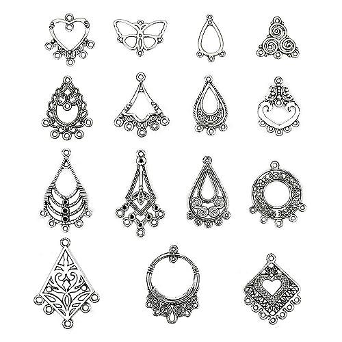 c8e2e91a8 LolliBeads (TM) Antiqued Tibetan Silver Earring Chandelier Earring Jewelry  Making Kit for Earring Drop
