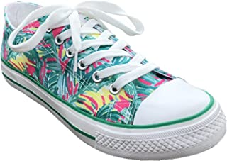 MONOBLANKS Women's Lilly Inspired Print Canvas Shoes Casual Sneakers Low-Top Canvas Sports Walking Shoes