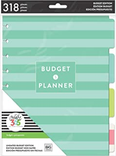 me & my BIG ideas Budget Extension Pack - The Happy Planner Scrapbooking Supplies - 6 Month Expense Tracker - Bill Pay Che...