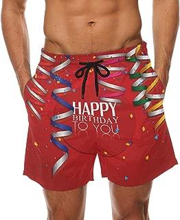 DEYYA Mens Red Lips Swim Trunks Beachwear Summer Holiday Beach Shorts Quick Dry