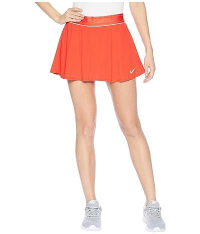 Nike Court Dry Skirt Flouncy (Habanero Red/White/Habanero Red) Women