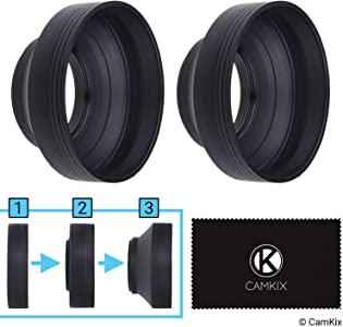 49mm Camera Lens Hood Rubber Set Collapsible Steps Sun Shade Shield Re...
