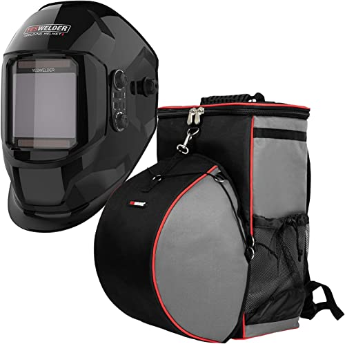 2021 YESWELDER Large Viewing Screen True Color Solar lowest Power Auto Darkening Welding online Helmet&Welding Backpack Extreme Gear Pack with Helmetcatch outlet online sale