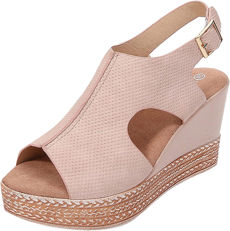 Virginia Beach Mall Padaleks Women Casual Slingback Summer Espadrille Wedge Sandals Sale Special Price
