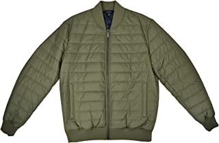 Brooks Brothers Mens Thermore Insulated Quilted Bomber Jacket Coat Army Green