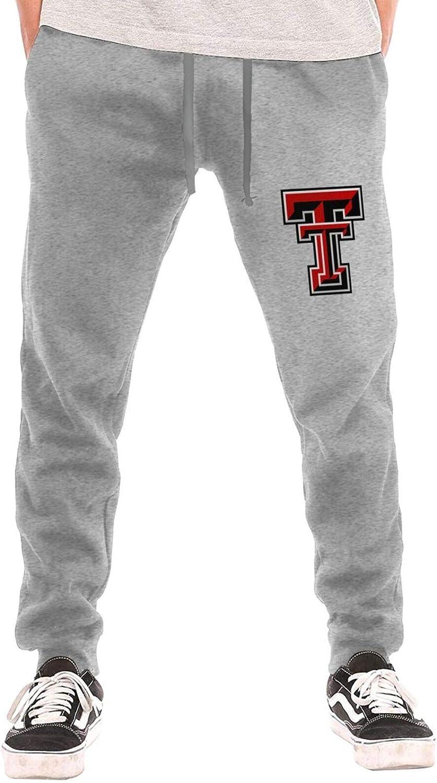 Texas Tech Red Raiders Mens Closed-Bottom Sweatpants /& Elastic Joggers Pants